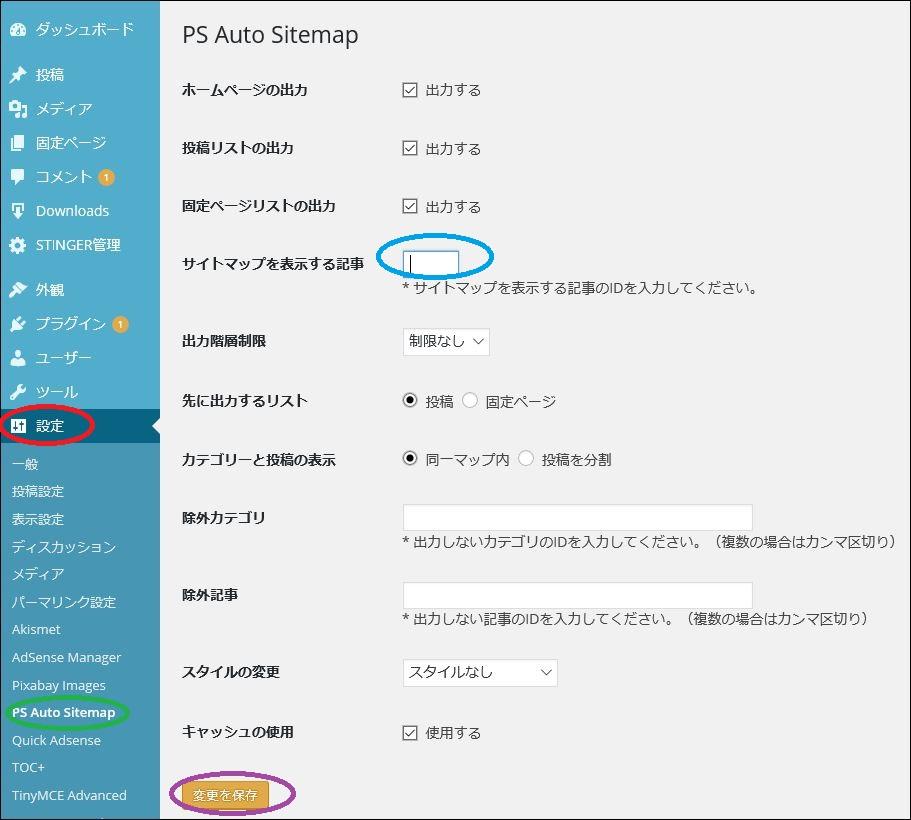 5ps auto sitemap